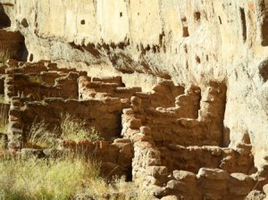 Cliff dwelling ruins