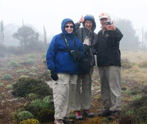 Sue, Me, our guide Marino on the paramo