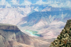 Colorado River from Angel's Window overlook
