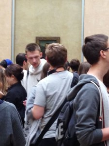 Crowd in front of Mona Lisa