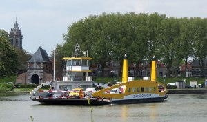 Car Ferry across River Lek