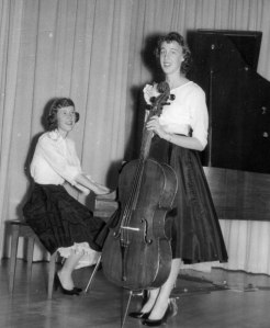 My cello recital - accompanied by my friend Leslie Reed