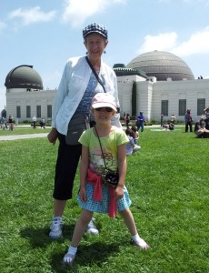 Lilli and I in front of Griffith Park Observatory