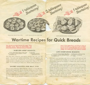 page from my mother's WWII cookbook