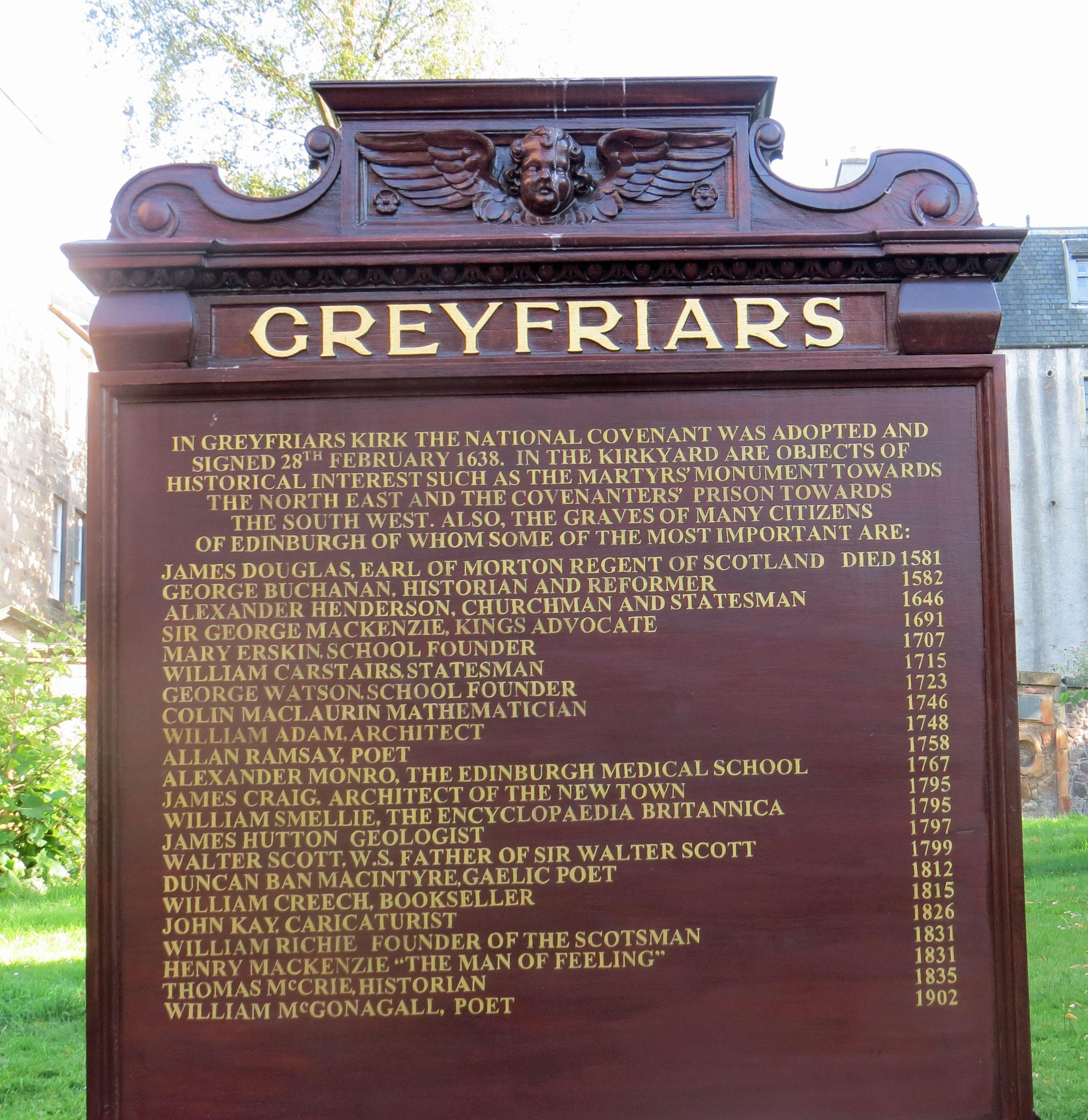 UK-Edinburgh-Greyfriar's-Kirk-sign-7-23-19